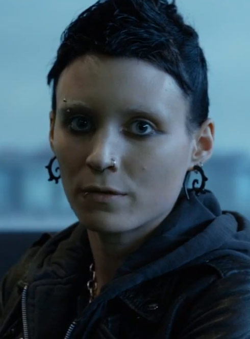 Lisbeth Salander The Girl With The Dragon Tattoo earrings