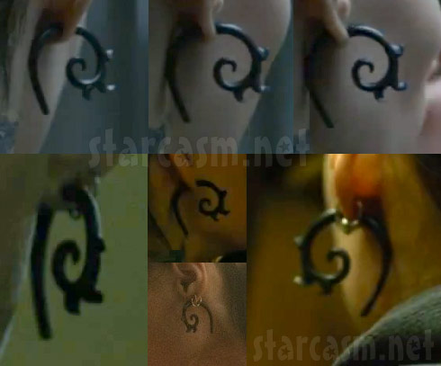 Rooney Mara's earrings from her character Lisbeth Salander in The Girl With The Dragon Tattoo