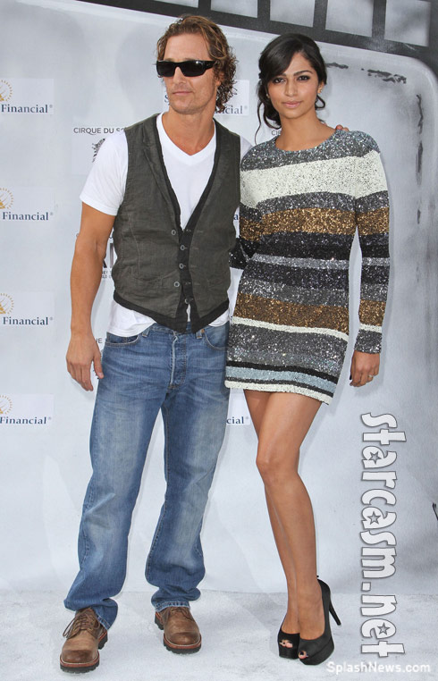 Matthew McConaughey and fiancee Camila Alves