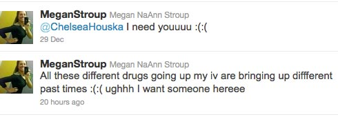 Megan Stroup asks Teen Mom 2 star Chelsea Houska to visit her at the hospital