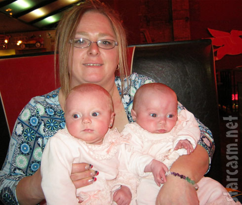 with grandbabies Aliannah and Aleeah, Teen Mom Leah Messer's twins