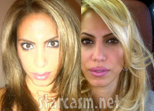 Nina Bazzy Aliahmad blond and brunette photos