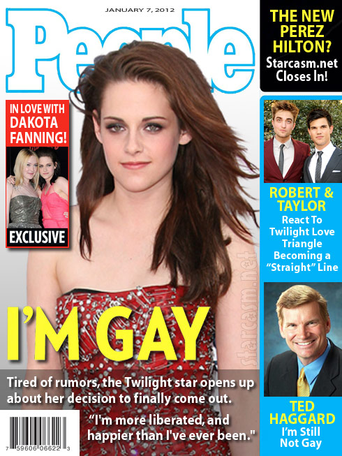 People magazine cover story announcing Kristen Stewart is gay and in love with Dakota Fanning