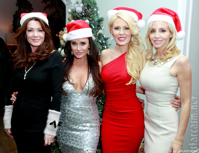 Lisa Vanderpump Kyle Richards Gretchen Rossi and Camille Grammer Christmas party