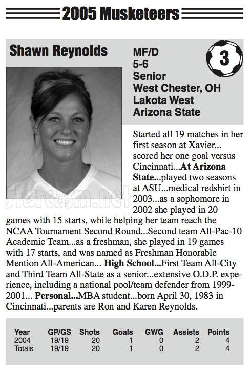 The Bachelor's Shawn Reynolds Xavier University soccer player profile