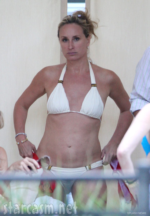 Sonja Morgan lookin tough in a white bikini in Miami