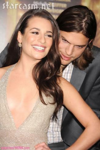 Lea Michele Ashton Kutcher flirt