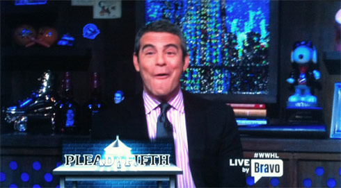 Andy Cohen funny face