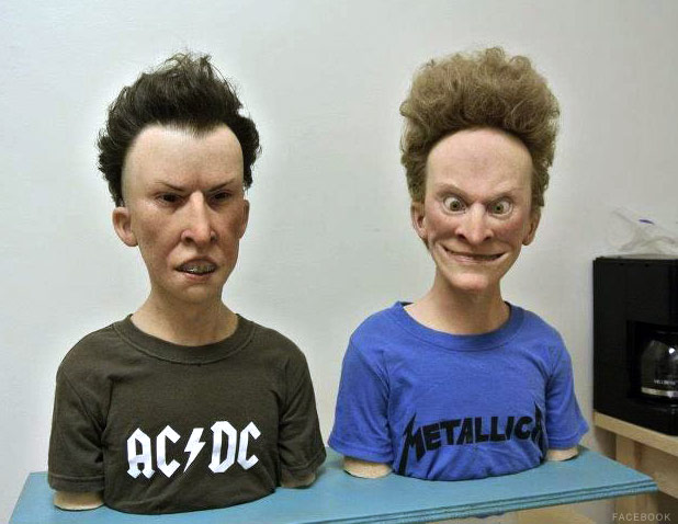 Lifelike Beavis and Butt-Head sculptures