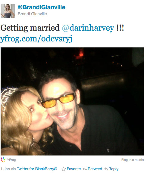 Brandi Glanville and husband Darin Harvey