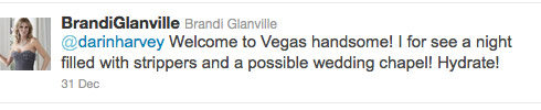 Brandi Glanville tweets about strippers and possibly getting married New Years Eve