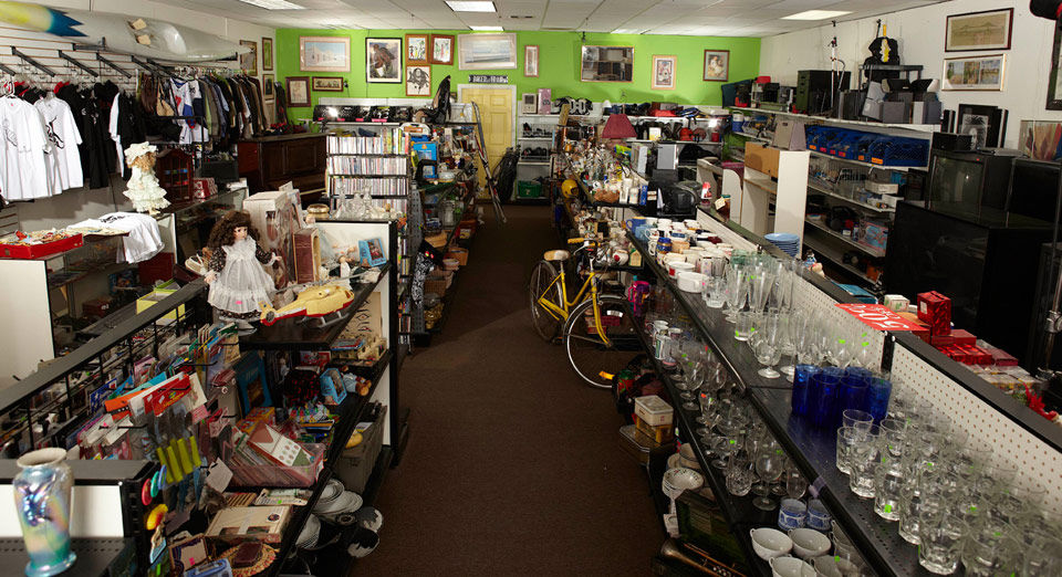 Now and Then Secondhand Thrift Store owned by Brandi and Jarrod of Storage Wars