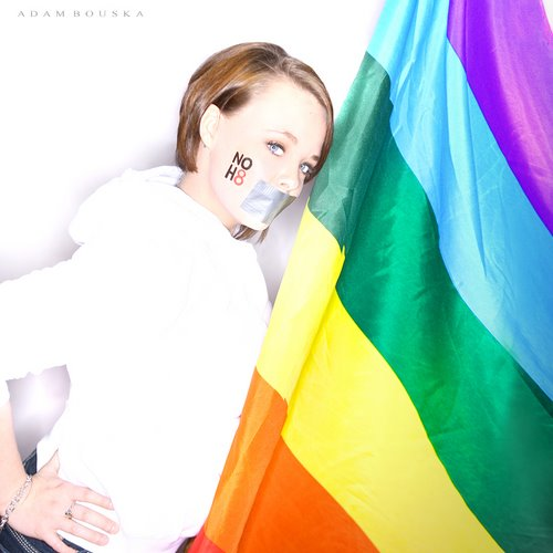 NOH8 photo with Teen Mom Catelynn Lowell