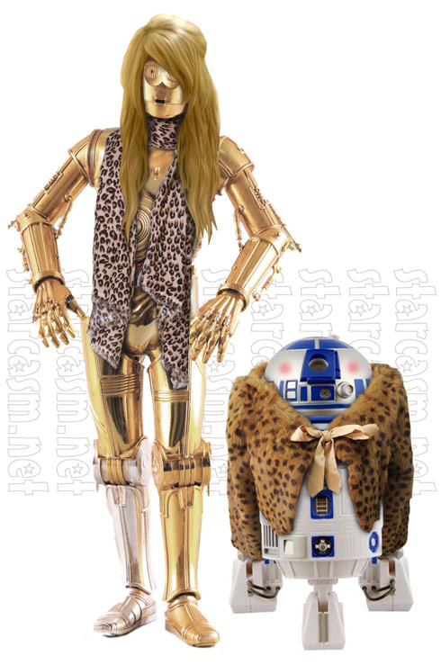 Chelsea Houska and Aubree as C-3PO and R2-D2