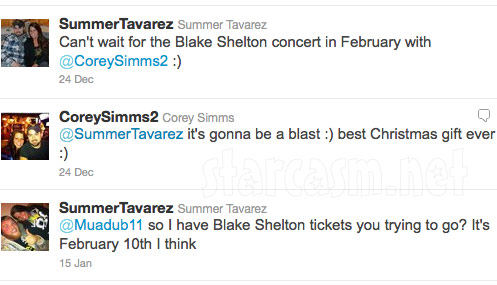 Summer Tavarez offers up Blake Shelton tickets meant as a Christmas gift for Corey Simms