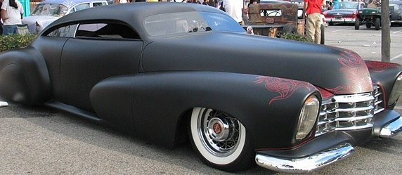 Barry Weiss' Cowboy Cadillac before he repainted it