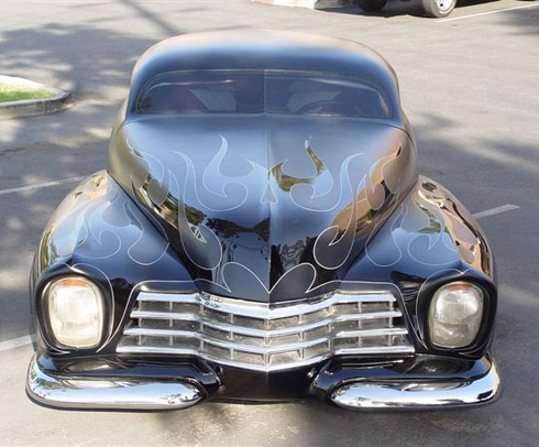 Barry Weiss Cowboy Cadillac front view