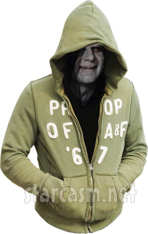 Emperor Palpatine in Kieffer Delp&#039;s hoodie
