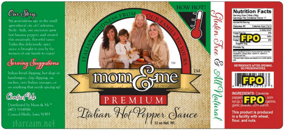Farrah Abraham Mom & Me brand Italian hot pepper sauce