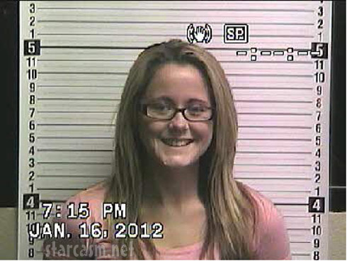 Jenelle Evans mug shot booking photo January 16 2012