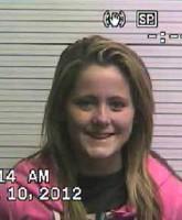 TeenMom Jenelle Evans mug shot photo for 2012 arrest