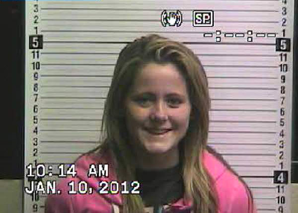 TeenMom Jenelle Evans mug shot photo for 2012 arrest