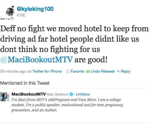 Kyle King tweets about reported drunken fight with Maci Bookout