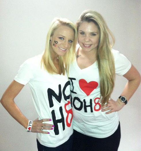 Teen Moms MAci Bookout and Kailyn Lowry behind the scenes of their NOH8 photoshoot
