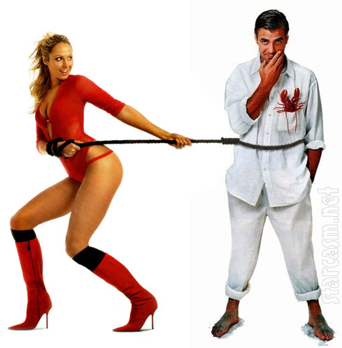 Wrestler Stacy Keibler and George Clooney