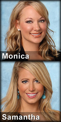 Monica Spannbauer and Samantha Levey The Bachelor 16 week 4 eliminations