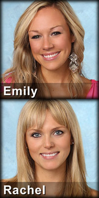 Emily O'Brien and Rachel Truehart ar the episode 7 eliminations on The Bachelor 16