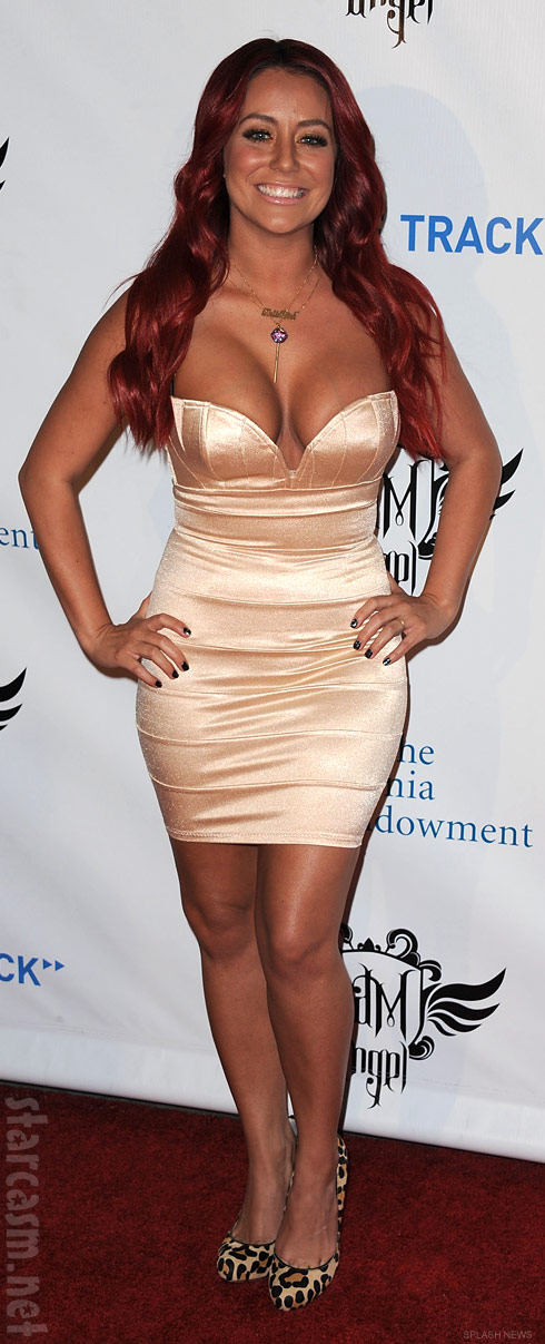 Aubrey O&#039;Day with red hair at TRANS4M i.am.angel Grammy event