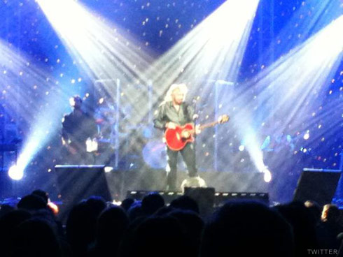 Barry Gibb of the Bee Gees performs first ever solo concert