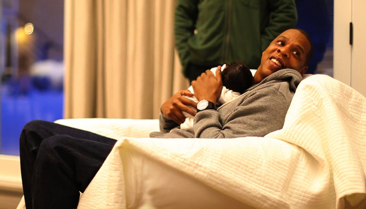 Blue Ivy Carter with Jay-Z