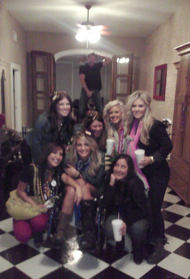 Chelsea Houska Jamie Lynn Spears and friends in New Orleans for Mardi Gras