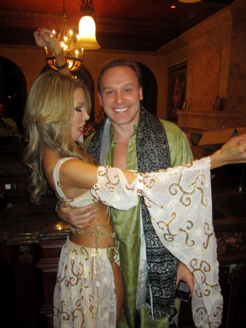 Lisa Hochstein in a sexy Halloween costume with husband Dr. Lenny Hochstein