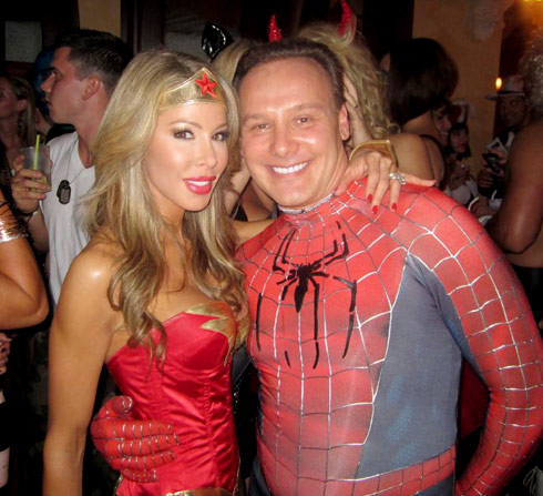 Lisa Hochstein and husband Dr. Lenny Hochstein in sexy Halloween costumes