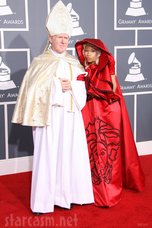 Nicki Minaj Pope Grammy Awards