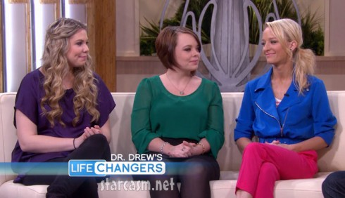 Teen Moms Kailyn Lowry Catelynn Lowell and Maci Bookout on Dr. Drew's Lifechangers