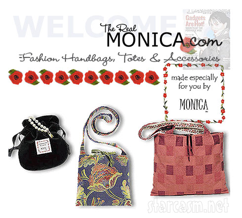 Monic Lewinksy's website for The Real Monic Inc. purses