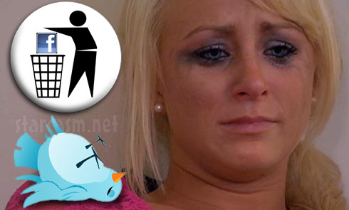 Leah Messer deletes Faceboook page, all but abandons Twitter