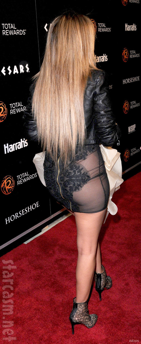 Adrienne Bailon wardrobe malfunction rear view