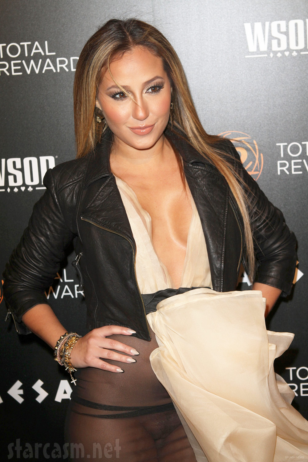 PHOTOS Adrienne Bailon suffers wardrobe malfunction, unleashes her ...
