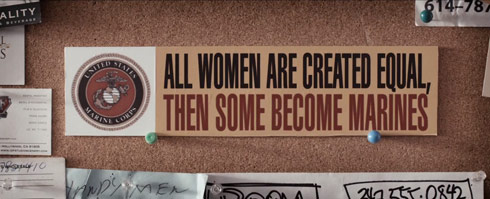 All women are created equal. Then some become Marines bumper sticker