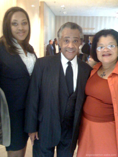 Angela Stanton Rev Al Sharpton and Dr. Alveda King