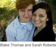 16 and PRegnant Sarah Roberts with baby daddy Blake Thomas