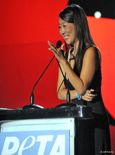 Kim Kardashian flour bomber Christina Cho receives PETA Award in 2010