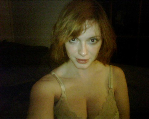 Christina Hendricks in a bra