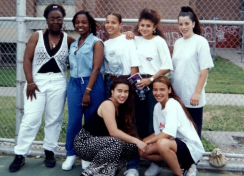 Mob Wives Drita D'Avanzo high school photo with her handball team
