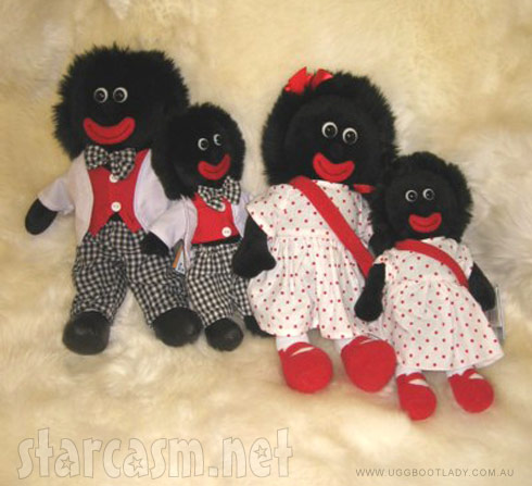 Golliwogg golly doll family including one that looks like the one received by Janet Jackson